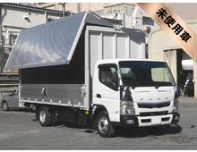 [未使用]H28 TPG-キャンター パブコ製アルミウイング ワイド幅 <br>5Mロングボデー 内高224㎝ 3t積載 コーナーメッキ 5MT 車検付