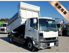 [未使用]H28 QKG-ファイター増㌧ 新明和製ダンプ 土砂可能 <br>床+ボデー耐摩耗性鋼板 Sパッケージ 7t積載 メッキパーツ 車検付