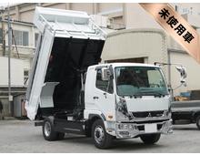 [未使用]H28 QKG-ファイター増㌧ 新明和製ダンプ 自動シート <br>床+ボデー耐摩耗性鋼板 Sパッケージ 7t積載 メッキパーツ 車検付