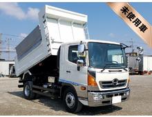 [未使用]H28 TPG-レンジャー増㌧ 新明和製ダンプ 自動シート<br>耐摩耗性鋼板 Rフェンダーステン 角型LEDマーカー 6MT 車検付