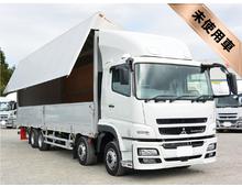 [未使用] H28 QPG-Sグレート トレクス製アルミウイング 7MT <br>4軸低床 内高264㎝ リアエアサス 13.8t積載 車検付き