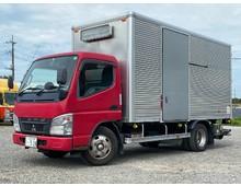 三菱キャンター 車検付き 標準ロング アルミバン 格納パワーゲート 左サイド扉 150馬力 マニュアル5速 2t積載