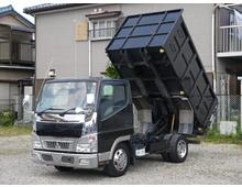 キャンター 標準10尺ボデー 容量たっぷり115㎝深ダンプ 近距離産廃業者様にお勧め 低走行 メッキパーツ多数 5MT