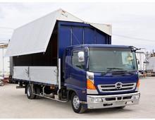 BDG-レンジャー トランテックス製アルミウイング 6200ワイド 内高235㎝ 2.9t積載 240馬力 リーフサス キャブメッキパーツ 6MT 車検12月迄