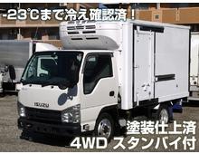 【高年式】 エルフ 4WD 低温 2室可能 スムーサー2ペダル 5t未満AT限定免許対応