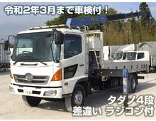 レンジャー ダダノ4段クレーン ラジコン・フックイン 差し違い 平アルミブロック 6MT 車検令和2年3月迄