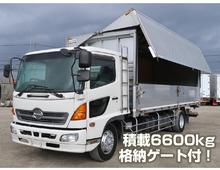 レンジャー 増㌧ 格納パワーゲート 6200ワイド 6.6t積載 270馬力 6MT 燃焼装置なし
