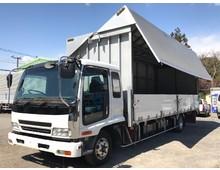 フォワード 電動幌ウイング 7200ワイド 内高249㎝ リアエアサス 240馬力 2.2t積載 アルミホイール 6MT