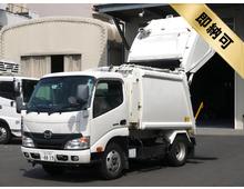 【すぐ乗れる】 デュトロ 新明和製プレス式パッカー 4.3立米 連続スイッチ付き ディーゼル燃料 走行8.1万㎞ 5MT 車検付き令和2年3月迄