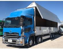 クオン 4軸低床 走行61.4万㎞ 13.9t積載 車検付5月迄 国産エンジン搭載