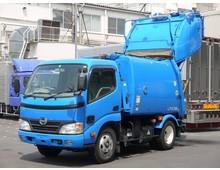デュトロ 極東製プレス式パッカー 4.1立米 低走行11万㎞ 2t積載 5MT LPG燃料 車検付き6月迄