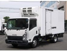 【高年式】 エルフ 東プレ冷凍 ワイドロング 左サイド扉 3t積載 6MT