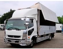 【高年式】 ファイター増㌧ 6300ワイド 内高242㎝ 6.7t積載 リアエアサス アルミホイール 6MT