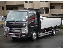 【高年式】 キャンター 平アルミブロック 3方開70アオリ ワイドロング 高馬力 4t積載