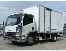 平成20年式 いすゞエルフ保冷バン 左サイド扉 AT限定免許OK車!! ターボ 155馬力 ワイドロング 積載4t
