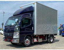 5t未満 H27年式 三菱キャンターバン 標準幅ショート デラックス使用 車検R4年2月 荷台高225cm 5MT