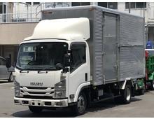 4WD エルフ アルミバン 格納パワーゲート 左サイドスライド扉 標準L4350 積載2000kg