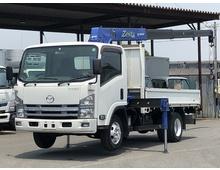 タイタン クレーン付き平ボデー タダノ4段 ラジコン/フックイン付き ワイドL3710 積載3000kg 6速MT