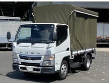 【車検付き】 三菱キャンター 幌付平ボデー 標準10尺 H28年 5速MT 走行距離129千㎞ 積載2950㎏