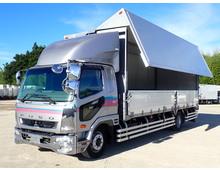 H25年 ファイター 増トン アルミウィング ワイドL7000 メッキ部品多数 リアエアサス 6MT 積載7100kg