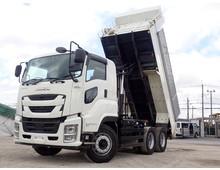 【高年式・低走行】 ファイブスターギガ 新明和製 510ダンプ 自動シート 2デフ 7MT 積載9.3t 車検令和4年7月迄