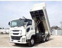 現行型・低走行】 令和元年 2PG-ギガ 極東製 510ダンプ 7MT 積載9.2t 走行6.9万㎞ 車検R4年7月迄