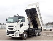 【現行型・低走行】 令和元年 2PG-ギガ 極東製 510土砂ダンプ 7MT 積載9.3t 走行6.7万㎞ 車検R4年8月迄