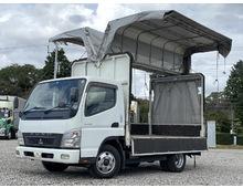 三菱キャンター ワイド セミロング 幌ウィング 手動開閉マニュアル5速 積載3t インタークーラーターボ 150馬力