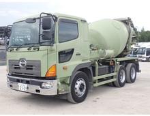 プロフィア 2デフ カヤバ製ミキサー車 ドラム容量8.7立米 電動ホッパー 積載9.87t 7MT 走行28.9万km台