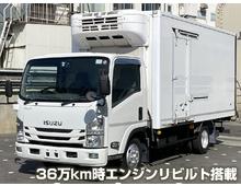 ☆エンジンリビルト H26年 いすゞエルフ 冷凍バン スムーサー 積載2000㎏
