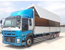 ギガ 3軸高床 アルミウイング リアエアサス 積載13900kg 7速MT