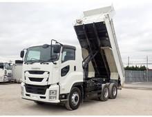 【現行型・低走行】 令和元年 2PG-ギガ 極東製 510ダンプ 7MT 積載9.2t 走行6.6万㎞ 車検R4年8月迄