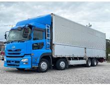 実走行61万キロ 平成24年式 UDトラックス クオン 4軸低床 ウイング車 エアサス 2ペダル式セミAT