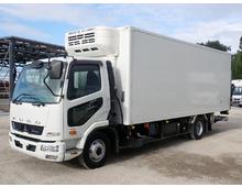ファイター 冷凍バン 標準幅6200L 東プレ低温 リアエアサス 格納ゲート 6MT 積載2.6t