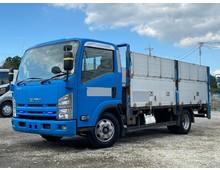 いすゞエルフ ワイドロング 平アルミブロック 垂直ゲート アオリ高120㎝ ターボ150馬力 6MT 3t積載