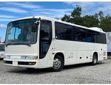 日野メルファ 29人乗り 観光バス 中型免許 貫通式トランク 自動ドア マニュアル6速